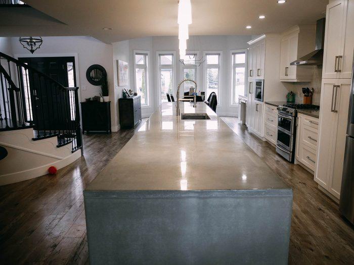 ANR Concrete Studio Windsor - Lakeshore Kitchen - Custom Concrete
